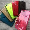 Силиконовый чехол стекающее мороженое для iPhone 6/6s