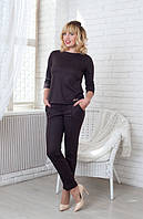 Женский деловой костюм темно-коричневого цвета