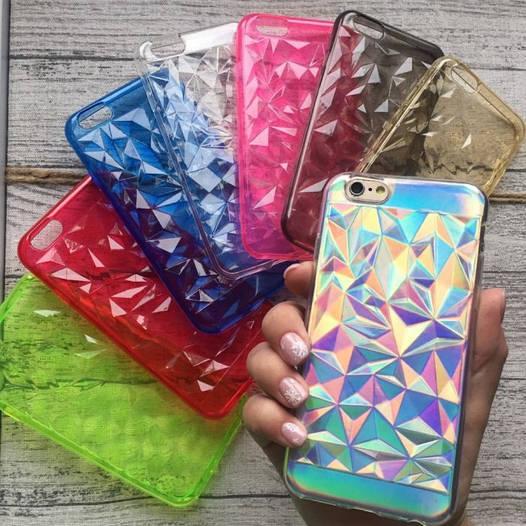 Силиконовый 3d чехол треугольники для iPhone 6/6s