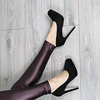 Туфли женские лодочки на шпильке Kylie черные
