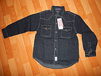 Рубашка джинсовая мальчик цвет темный