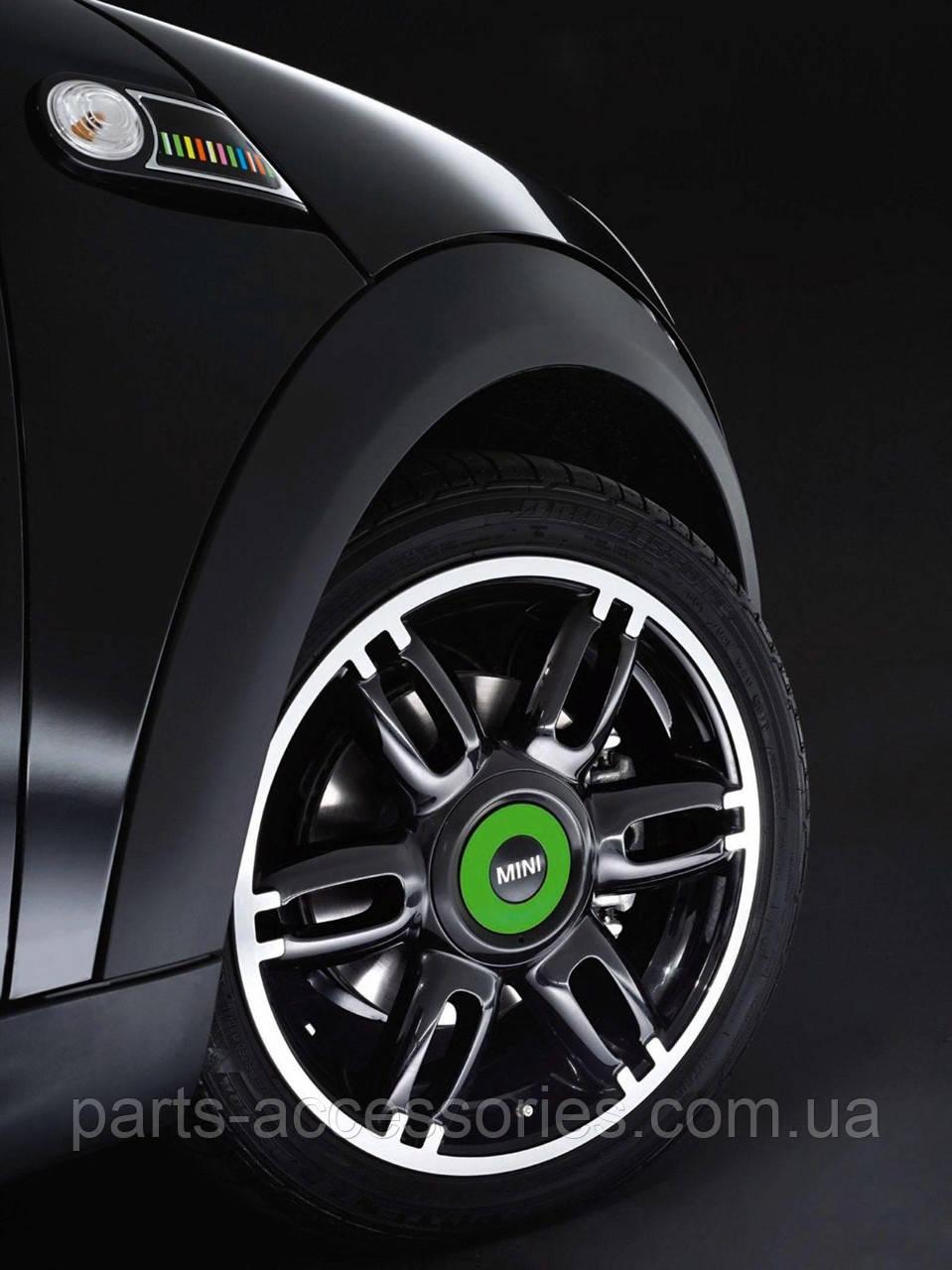 Mini Cooper R55 R56 R57 R58 R59 2007-15 зеленые колпачки в диски Новые Оригинальные