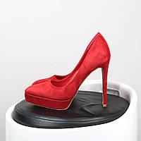 Туфли женские лодочки на шпильке Kylie красные