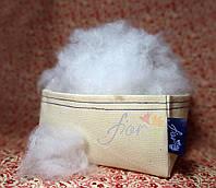 Синтепух белый первичный 1,5 dtex искусственный лебяжий пух (1ый сорт), Украина