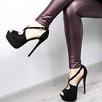 Босоножки женские Pamella черные, летняя обувь