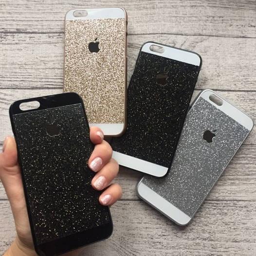 Пластиковый чехол с блёстками для iPhone 6/6s