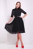 Платье Лавена к/р, чёрный