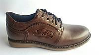 Мужские кожаные туфли Kristan NS  brown