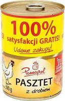 Паштет Pamapol 390г Польша свинина и птица  опт 10 шт Памапол