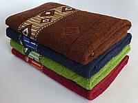 Махровое банное полотенце 140х70см (ромбы)