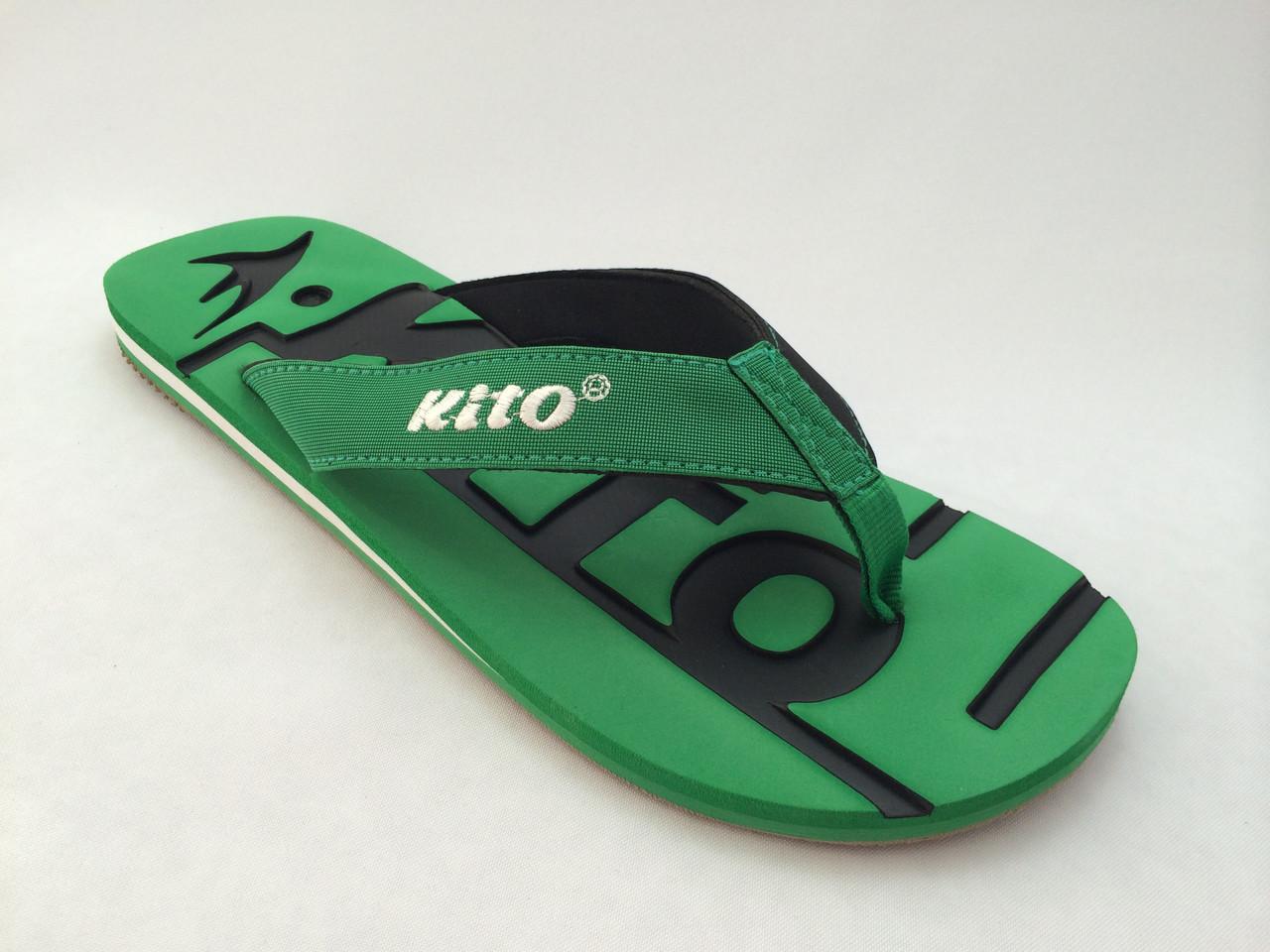 Мужские вьетнамки KITO зеленые