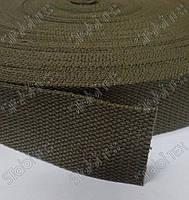 Лента ременная (стропа) 38мм Х/Б (45,5м) Хаки, фото 1