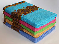 Махровое банное полотенце 140х70см (медальон)