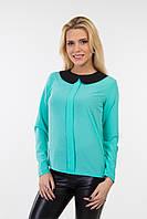 Блуза с воротником мята