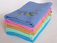 Махровое банное полотенце 140х70см (подсолнечник,дешевое)