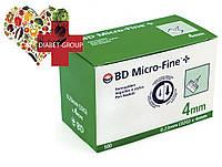 """Иглы для шприц-ручек BD Micro-Fine+ """"МикроФайн"""" 4мм 100шт."""