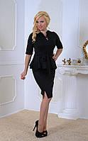 Женский стильный костюм черного цвета