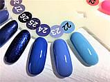 Гель-лак Nice for you № 22 (голубой) 8.5 мл, фото 4