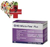 """Иглы для шприц-ручек BD Micro-Fine+ """"МикроФайн"""" 5мм 100шт"""