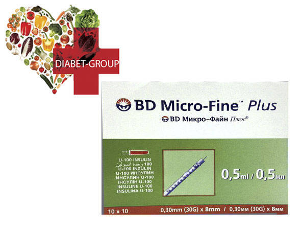 Шприцы инсулиновые BD Micro-Fine+ 0,5мл 8мм, фото 2
