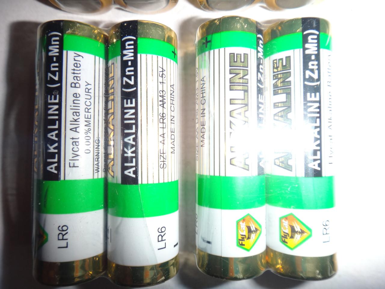 Батарейка Alkaline LR6 AA (Zn-Mn) Flycat Alkaline Battery 0.00%Mercury розница опт поколение 2017