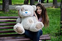 Мягкая игрушка Плюшевый Мишка Потапкин Бело- серый 90 см
