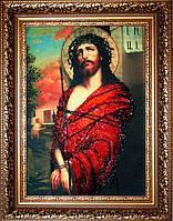 Набор для вышивки бисером БП-113 ИИСУС В ТЕРНОВОМ ВЕНКЕ