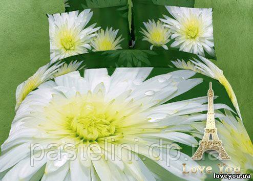 Love you евро комплект  постельного белья 3D сатин  Апрель