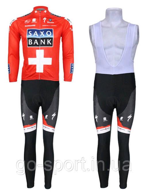 ДЕМИСЕЗОННАЯ Велоформа Saxo Bank 2013 v2 bib