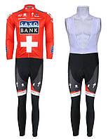 ДЕМИСЕЗОННАЯ Велоформа Saxo Bank 2013 v2 bib, фото 1