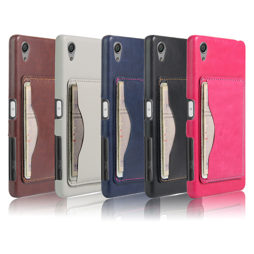 """SONY F5122 X оригинальный чехол бампер накладка панель иск. кожа карман для кредитной карты для телефона """"CLOW"""
