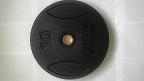 Диски  для штанги бамперные  (Bumper plates)-10 кг.