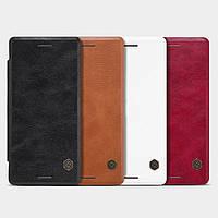 """SONY F5122 X оригинальный чехол книжка кожаный из натуральной кожи для телефона """"NLK"""""""