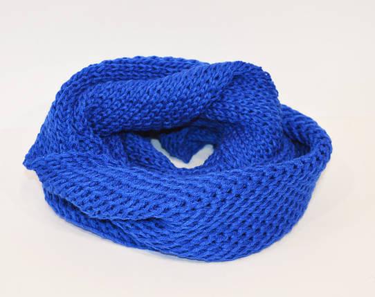 Шарф-хомут синий Ozsoy, фото 2