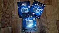Карта памяти + Adapter Lexar MicroSDXC  64GB  10 clas
