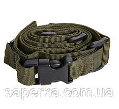 Ремень оружейный трехточечный Olive ST-3 5639