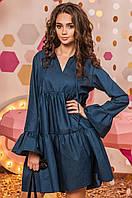 Женской джинсовое платье свободного кроя