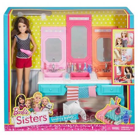Barbie Sisters Кукла Скиппер Барби и ее сестры Ванная