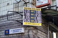 Обмен валют 960х800мм