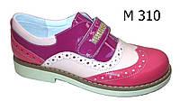 Туфли кожаные летние на липучке для девочки  ТМ FS collection. Размер 34