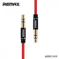 Кабель AUX Remax RM-L100 Audio DC3.5 папа-папа 1.0м, GOLD Stereo Jack, (круглый) white cable, Corton Box
