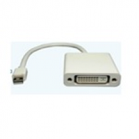 Конвертер mini Display Port (папа) на DVI(мама) 30cm, White, Пакет