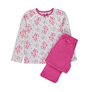 Пижама детская с длинным рукавом на девочку 10-11-12-13 лет George (Англия) 10-11