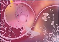 "Картина-часы (50х70 см) ""Бабочки"""