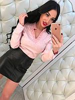 Стильная женская рубашка, розовая