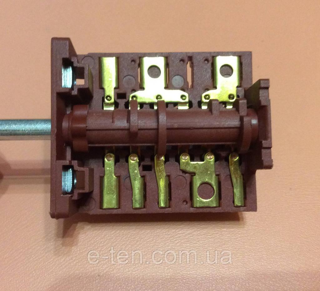Перемикач п'ятипозиційний AC601A (AC6) / 16А / 250V / Т150 (контакти зовні 6+7) JRGESON Туреччина