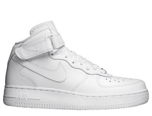 "Женские кроссовки Nike Air Force 1 Mid (GS) ""All White"""