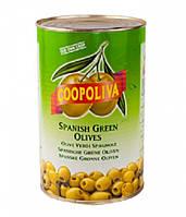 "Оливки ""Coopoliva"" зеленые без косточки 4300г"