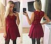 Платье  дайвинг и кружево юбка в складку, фото 3