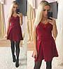 Платье  дайвинг и кружево юбка в складку, фото 6